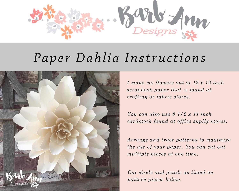 Wonderful DIY Paper Dahlias Flower | 1200x1500